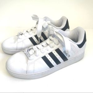 Adidas Campus SK White Leather Sneakers NEO 10.5